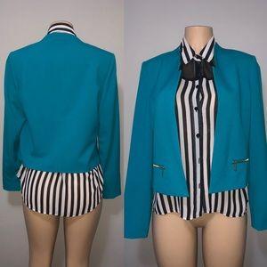 Calvin Klein Turquoise Blazer size 8